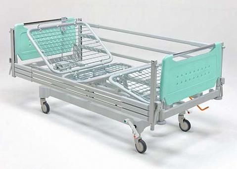 Кровать больничная 4-х секционная с фиксированной высотой, на колесах, регулировка секций - электрика, тренделенбург,   11-CP159