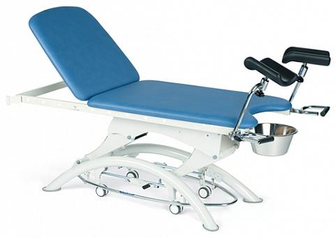 Смотровой процедурный гинекологический двухсекционный стол с электрическим приводом Lojer EG